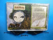 Disney Animal Kingdom Inaugural 1998 Opening Vintage 999 Silver Coin Sealed Rare