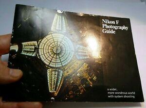 Nikon F Cámara Folleto Lente Fotografía Guía (En) 1970 Estándar Prisma