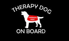 Therapy Dog onboard Car Decal Sticker on board Window Vinyl
