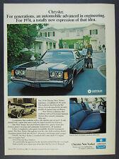 1974 Chrysler New Yorker 2-door blue car color photo vintage print Ad