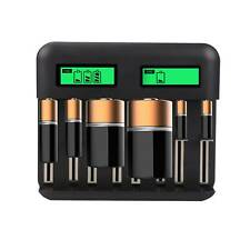 8 Slot Intelligent Battery Charger USB for C D AA AAA Rechargeable Batteries