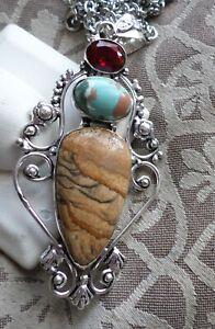 Picture Jasper Pendant with Chain