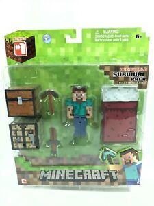 MINECRAFT - Action Figure - Steve Survival pack - Jazwares - Rare S1 NEW