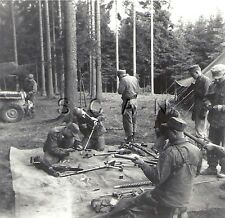 WWII Original Occupied Germany RP- 2nd Armored Cavalry- Jeep- MG 50 Cal- SMG