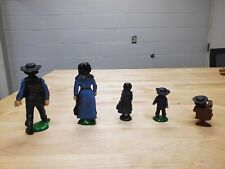 Vintage Cast Iron Amish Family of 5 Hand Painted Figures