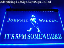 It's 5 pm Somewhere Johnnie Walker Led Neon Sign Bar Beer Pub Club 3D Signs