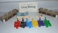 1974 EASY MONEY board game Replacement pieces Complete set of buildings.
