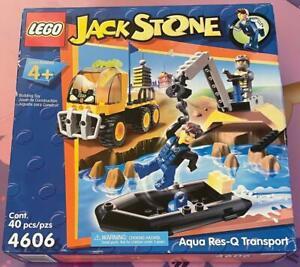 Lego Jack Stone Aqua Res-Q Transport Set 4606 New Unopened Box