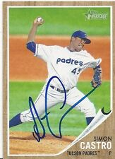 Chicago White Sox SIMON CASTRO Signed Heritage Card