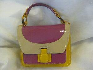 Hobo Patent Leather Color Block Mini  Frame  Purse