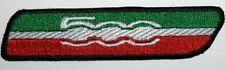 Toppa ricamata patch termoadesiva logo FIAT 500 ITALY cm. 10 x 2,2
