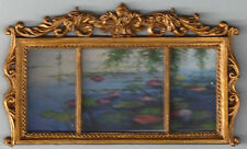 PLASTIC FRAMED FAMOUS OIL PAINTING MINIATURE DOLL HOUSE FURNITURE