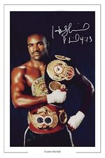 Evander Holyfield BOXING firmato Autograph Foto Stampa