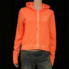 NWT M Hollister Hammerland Junior/ Women Sweatershirt Jacket Hoodie Neon Orange