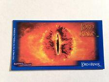 Lord Of The Rings - Bassett / Barratt Trading Cards - Eye Of Sauron - Lotr Card