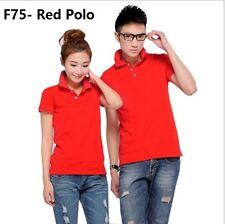 Polo 160-165cm (S Size) Shirt Red T Shirts Tops Sports pakaian baju lelaki Boy