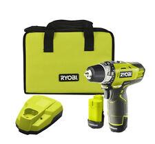 New Ryobi 12V Cordless Drill Driver With 2 1.3AH Batteries