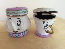 More details for disney's mrs potts & chip zipped purses .lovely condition