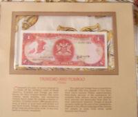 Most Treasured Banknotes Trinidad 1 Dollar 1985 P 36a UNC Prefix AD sign 4