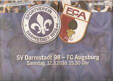 HEIMSPIEL Zeitung SV Darmstadt 98 - FC Augsburg 12.03.2016 DA Echo 2015/2016