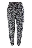 New Ladies Emily Black White Aztec Print Jogger Trousers Plus Size 16 - 26