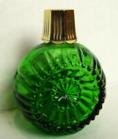 Avon Green Ornament Festive Facets Bottle empty vintage label intact very nice