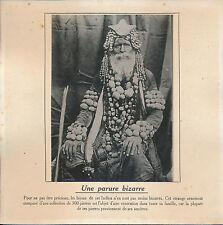 PHOTO PRESSE c. 1910 - Curiosité  Indien Bijoux Parure de Pierres  - 172