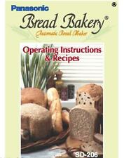 Panasonic SD206 Bread Machine Owners Manual User Guide Recipes Copy Reprint