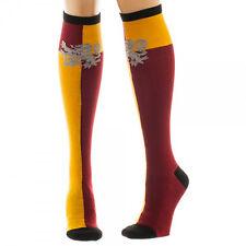 HARRY POTTER Gryffindor Logo Red/Gold Knee High Socks