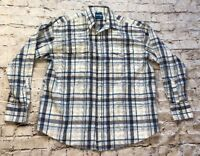 Wrangler Men's Western Long Sleeve Plaid Pearl Snap Shirt Size XL