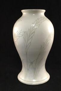 MOORCROFT ART POTTERY TABLE LAMP BASE GREEN SHEAF OF WHEAT PATTERN