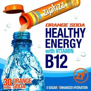 Zipfizz-Healthy-Energy-Drink-Mix-30-Tubes-Orange Soda-FREE-SHIPPING