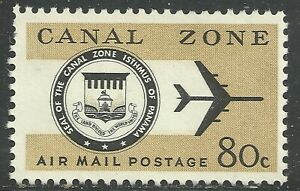 U.S. Possession Canal Zone Airmail stamp scott c47 - 80 cent 1965 issue mng x