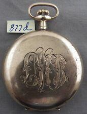 Illinois Burlington 19 Jewel, 16 Size Pocket Watch, Original GF Hunting Case
