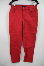 Not Your Daughter's Jeans Denim Pants sz 6 Skinny Slim Pink red Stretch Womens