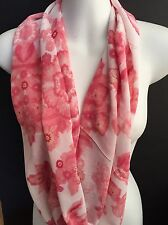 Infinity Scarf by DOLLY BIRDS Pink   & White made in Tasmania, Australia.