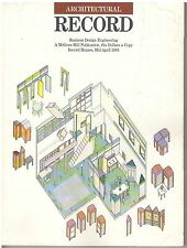rivista - THE ARCHITECTURAL RECORD ANNO 1985 META' APRILE