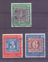 Bund 1949 - Tag der Briefmarke - MiNr.113/115 gestempelt - Michel 140,00 € (665)