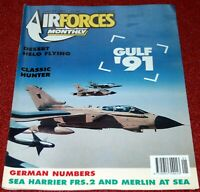 Air Forces Monthly Magazine 1991 January Gulf War,Hawker Hunter,Sea Harrier FRS2