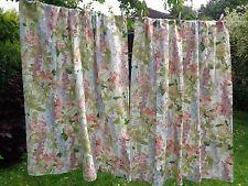 """SANDERSON Vintage Gorgeous floral curtains - """"Delphinium"""" 1981 RARE fabric"""