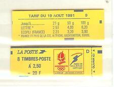 CARNET TYPE BRIAT 2,50 FRANC ROUGE N°2215C1 NEUF** JEUX OLYMPIQUE