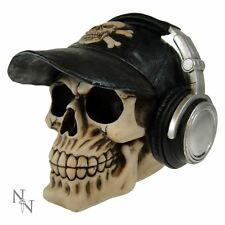 Happy Cappie Baseball Cap Headphones Skull Money Box 13 cm High Nemesis Now