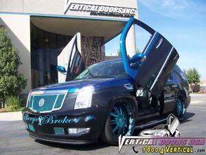 2007 08 2009-2013 Cadillac Escalade Vertical doors inc. bolt on lambo door kit