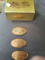 3 San Francisco elongated penny CA USA cent Cable Car souvenir coin Bridge