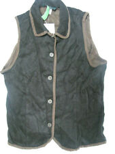 NEW NWT Orvis Womens Size 14 Equestrian Vest Brown Soft Viscose Dark Brown $98
