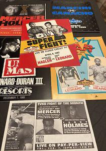 1987-92 BOXING PROGRAMS~LOT OF 5~LEONARD~HOLMES~HAGLER~HEARNS~DURAN HOF+