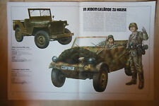Willys Overland MB,Jeep--Volkswagen Typ 82- Kübel -- Poster-Plakat - Farbe-