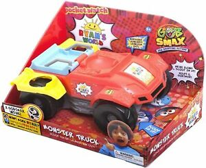 RYAN'S WORLD Gobsmax MONSTER TRUCK Car with LAUNCHERS & 1 Surprise Ball Playset