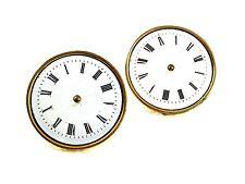 Vintage Goldtone Porcelain Watch Face Cufflinks Made In France 62617