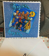 GORGEOUS: LARGE: 8X8, THE BROONS : CAROLLING. CHRISTMAS CARD & ENVELOPE.NEW